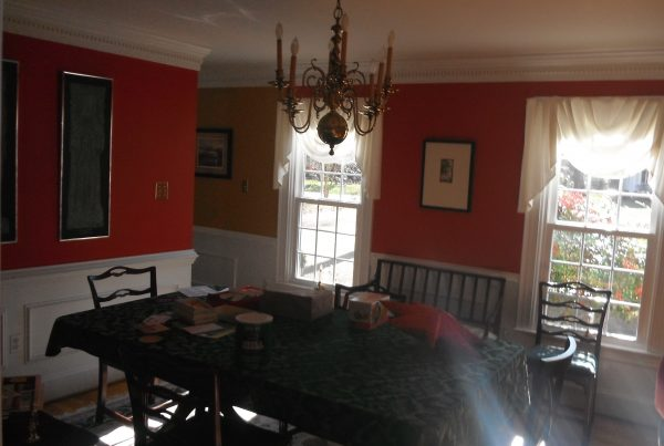 Woodland Pond dining room before